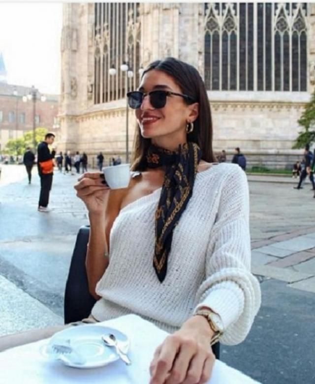 ZAFUL One Shoulder Lantern Sleeves Solid Sweater