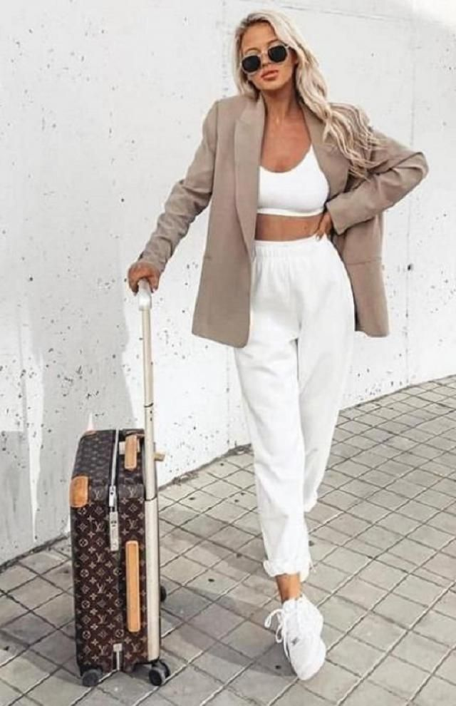 Button Up Shoulder Pads Pockets Blazer  A perfect pants set with blazer . Shop at Zaful!