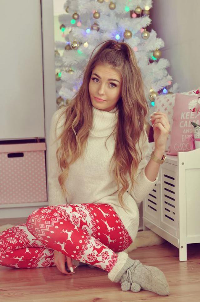 Christmas Elk Snowflake Raglan Sleeve Pajama Pants Set Christmas is coming! A time of joy and time to give!