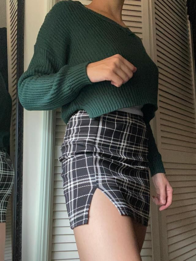 skirt is very cute, made of a soft stretchy material and not see through at all, I ordered a M to fit my hips but it m…