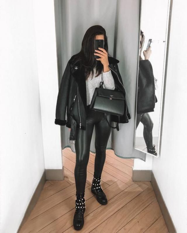 How warm its this beautiful Faux Leather black Coat! its so cozy and stylish! get it here!