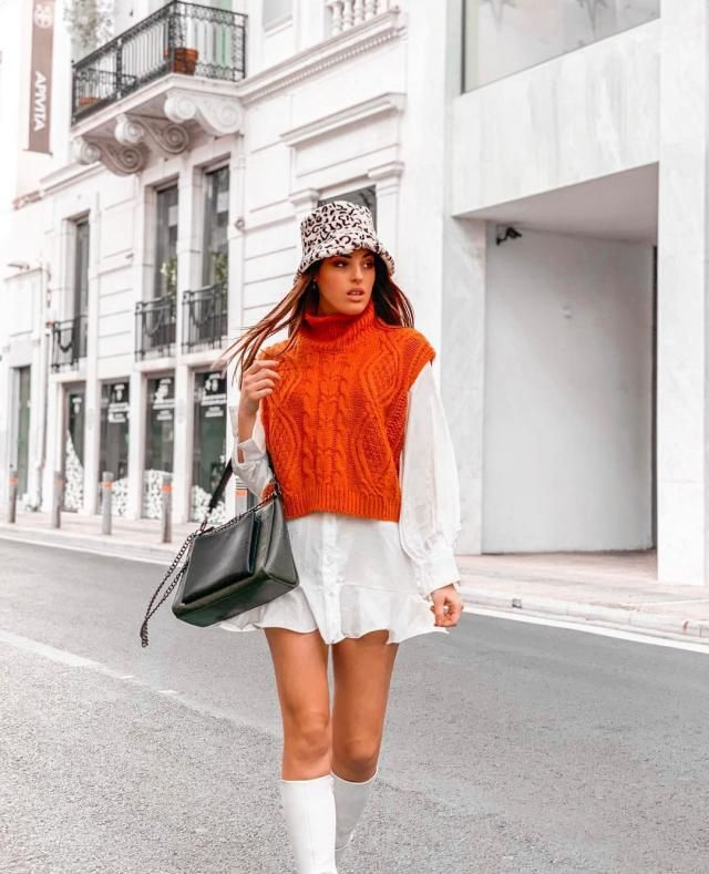 HOW CUTE ITS THIS ORANGE SWEATER VEST! GET IT HERE IN ZAFUL!♥