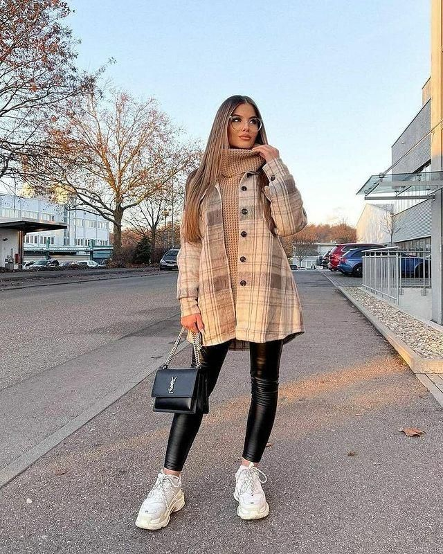 Wonderful plaid coat with pants , colection of clothes for autumn and winter in Zaful.