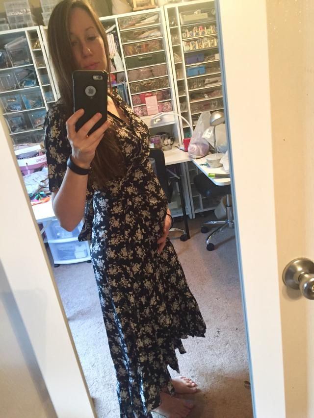 I bought this because I am pregnant. It has a convienent adjusting wrap tie, so plenty of room to grow. I purchased a …