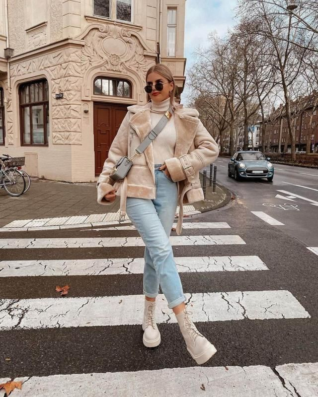 ZAFUL Teddy Lined Double Breasted Suede Coat
