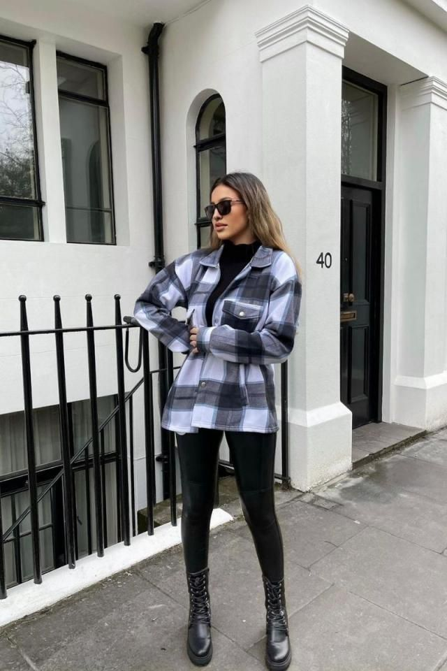 ZAFUL Plaid Pockets Coat