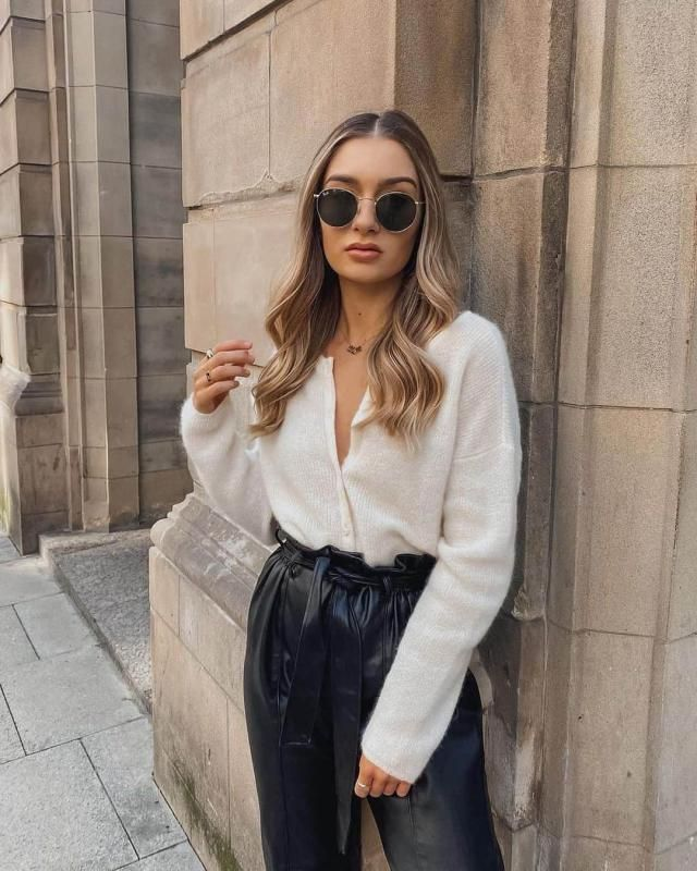Fuzzy Button Up V Neck Cropped Cardigan