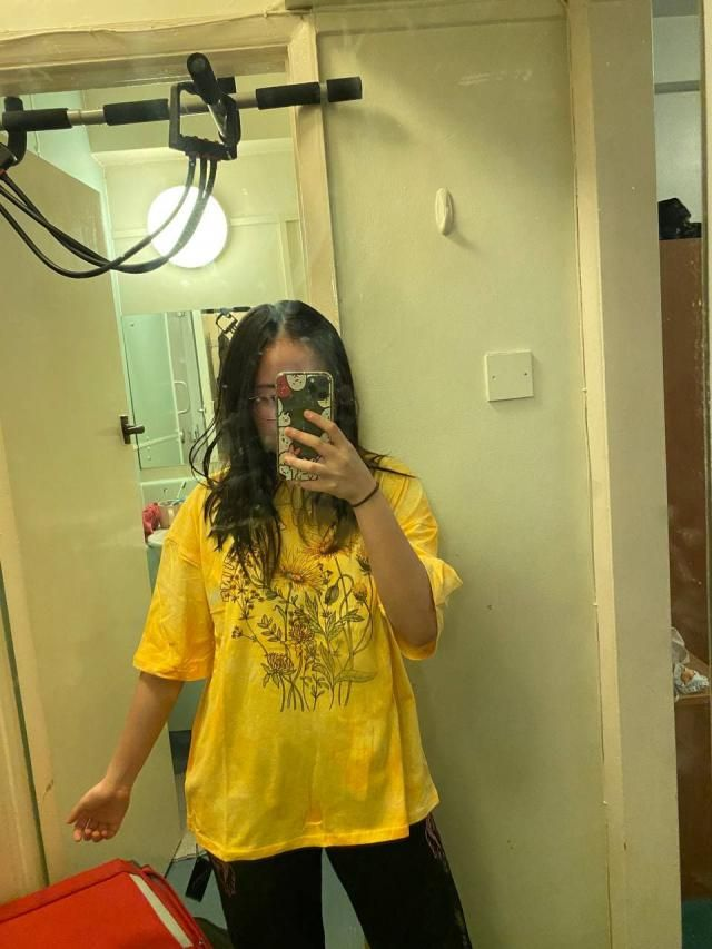 Enjoy the oversized shirt!  Looks exactly like the pictures and definitely recommend