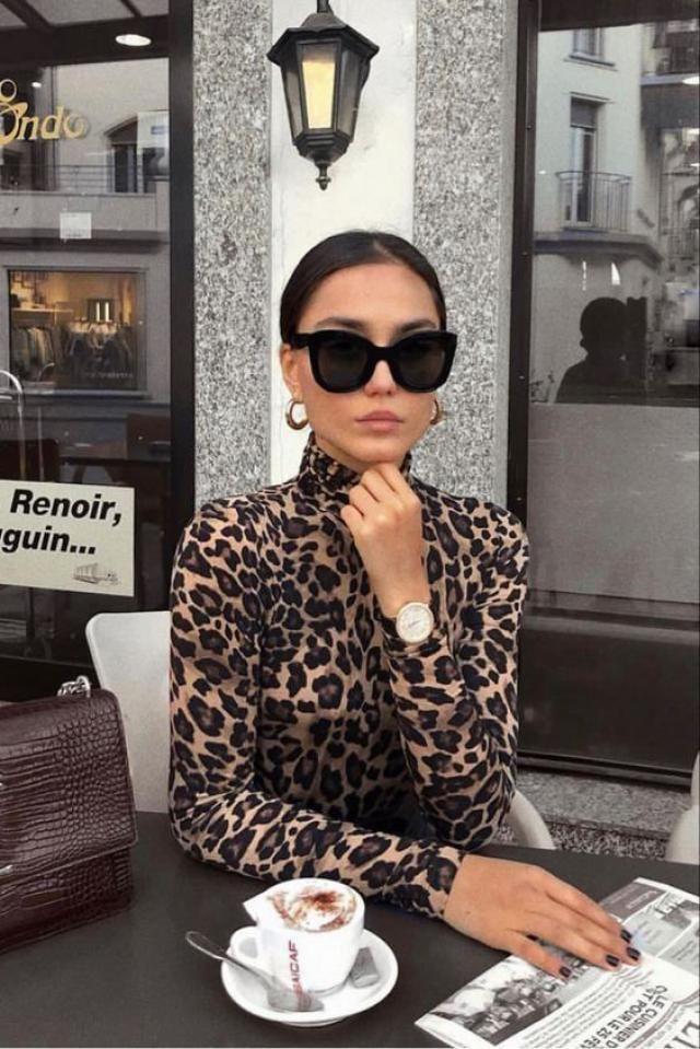 Mock Neck Leopard Snap Crotch Long Sleeve Bodysuit  Beautiful leopard print bodysuit , only in Zaful.