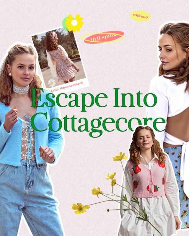 Escape Into Cottagecore - ZAFUL March Lookbook Check our early spring Lookbook and comment below with your fav look!