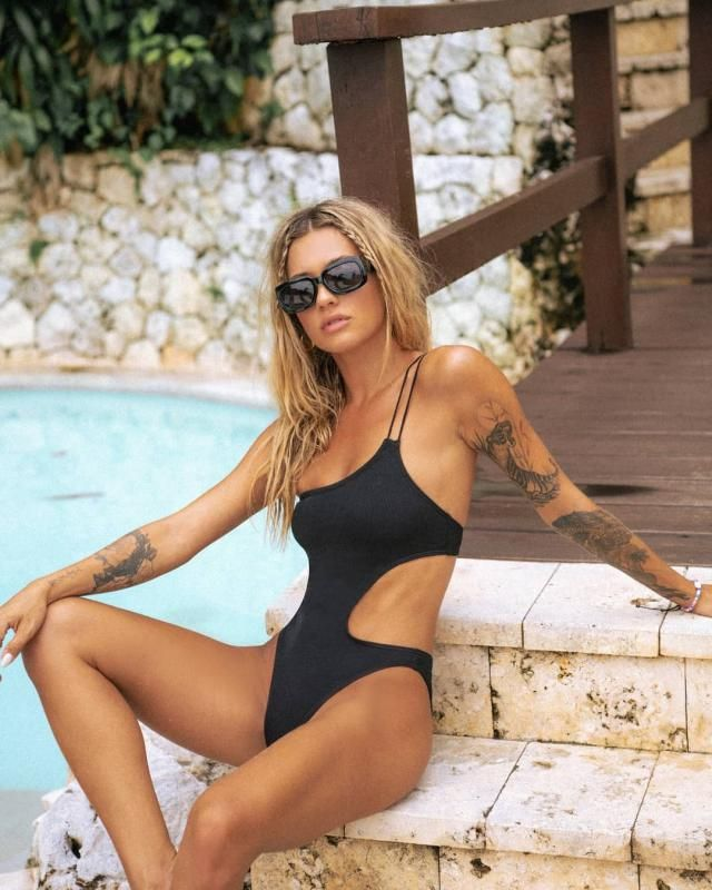 ZAFUL Ribbed Cut Out One Shoulder One-piece Swimsuit