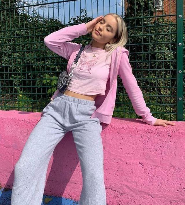 Zip Up Hoodie  Pink