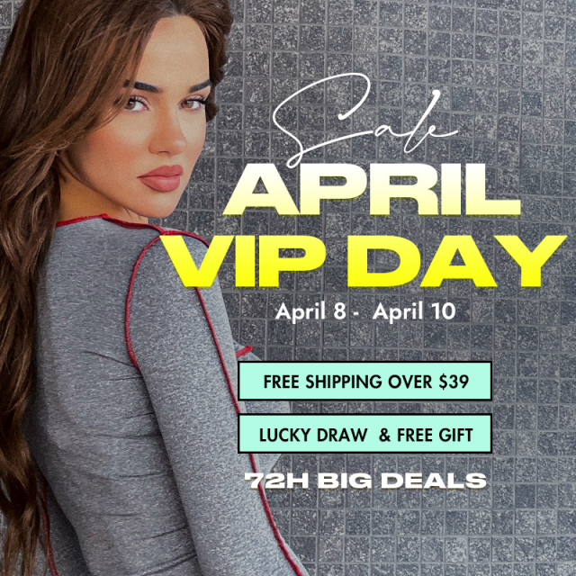 ZAFUL APR. VIP DAY Special offer from Apr.8 to Apr.10 FREE SHIPPING on order over $39 Join to play lucky draw to huge p…