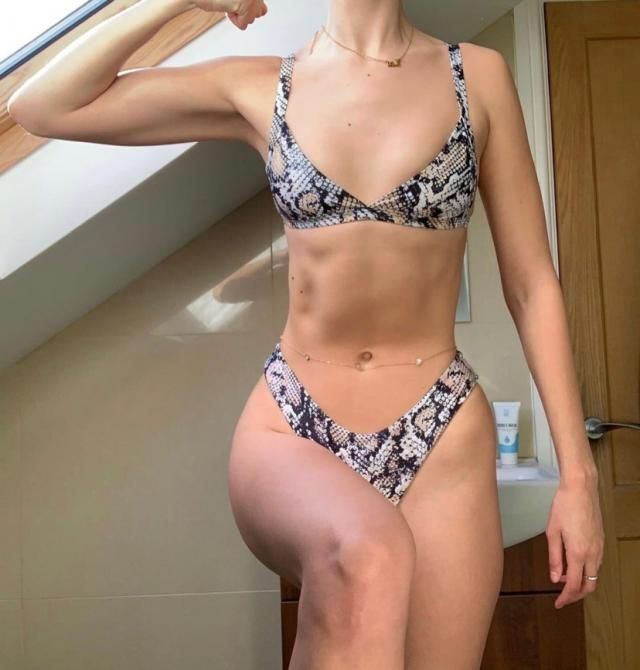 This bikini is super cute !Looks exaclty like the pictures. Comfortable and fantastic material Fits me so well!!