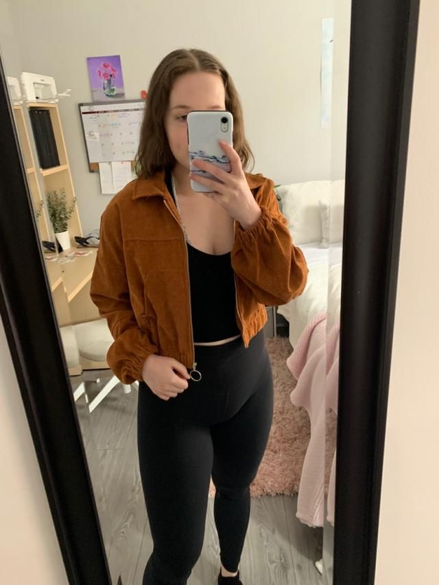 Love this jacket! It's a nice light layer to add to your outfit! I find it looks best unzipped. Definitely recommend.…