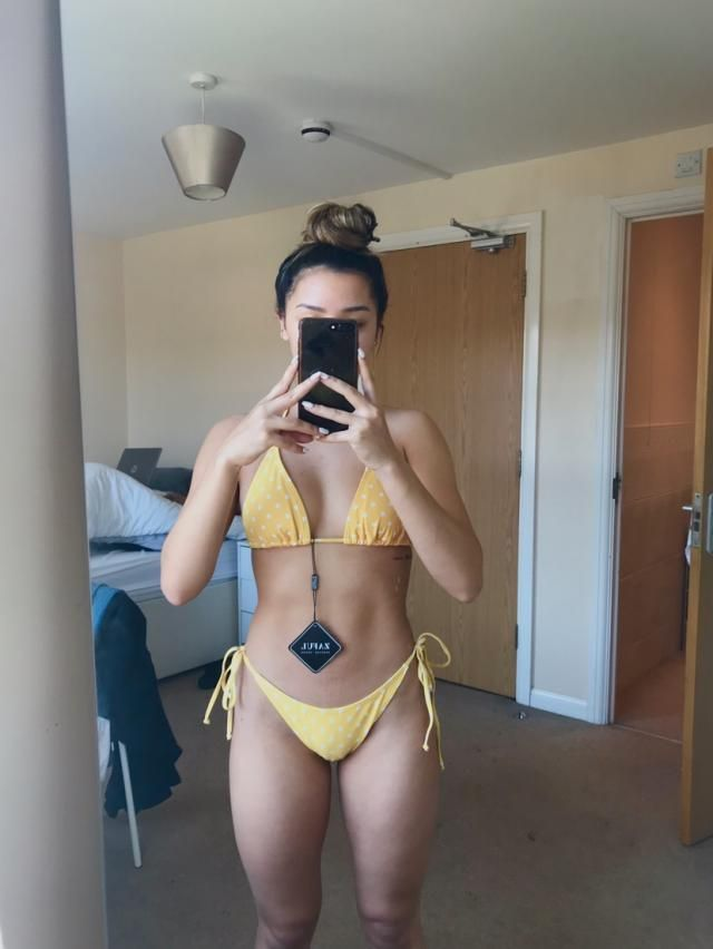Super cute, i cut off the attached strap because I wanted to wear it like a halter (basic string bikini) & it'…