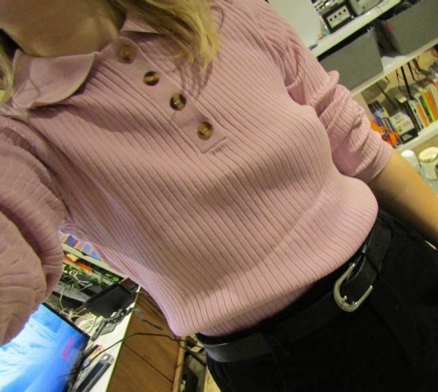 Material is thicker than I expected but it&;s very comfortable and very cute. Runs a bit bigger.