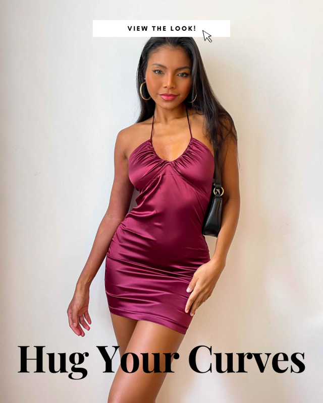 Hug Your Curves   ZAFUL Satin Dress Lookbook  Check our new Lookbook and comment below with your fav look!