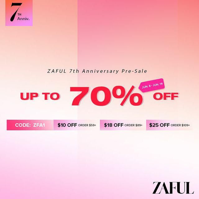 On the occasion of ZAFUL 7th anniversary We have prepared surprising gifts, a prize wheel, and most importantly supe…