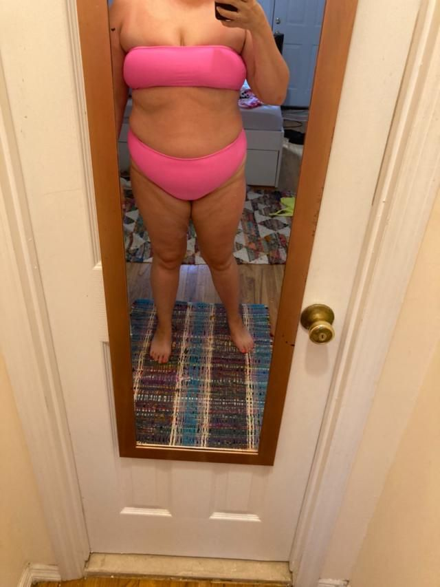 I love this suit, I just wish it came in plus sizes. It's fun and super neon, very pretty color. But I'd love an XL or…