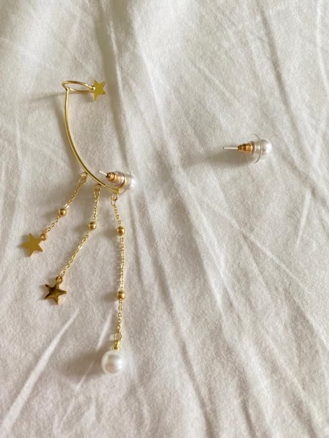 I just love this earrings!! They are beautiful and the upper ear part is adjustable. Plus, you can use them just as pe…