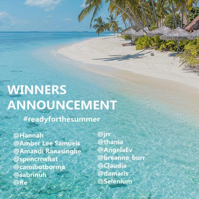 【We have the winners!】 Congrats to @Hannah@Amber Lee Samuels@Amandi Ranasinghe@spencrrwhat@camibotborma@sabrinuh@Re@jr…
