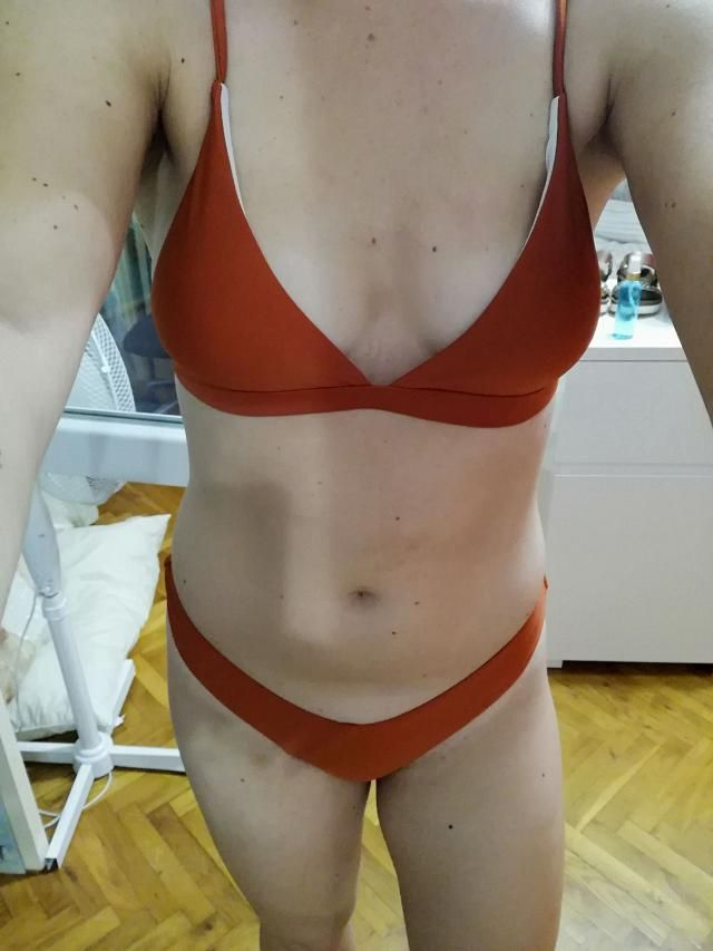 Love this bikini. Can't wait to wear! Fits well , True to size , Super cute