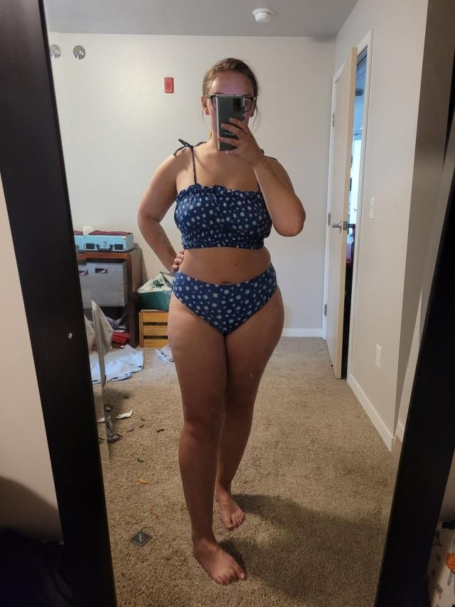 Super cute swimsuit, top is very comfortable and the fabric is a nice quality. The bottoms aren't really high waisted …