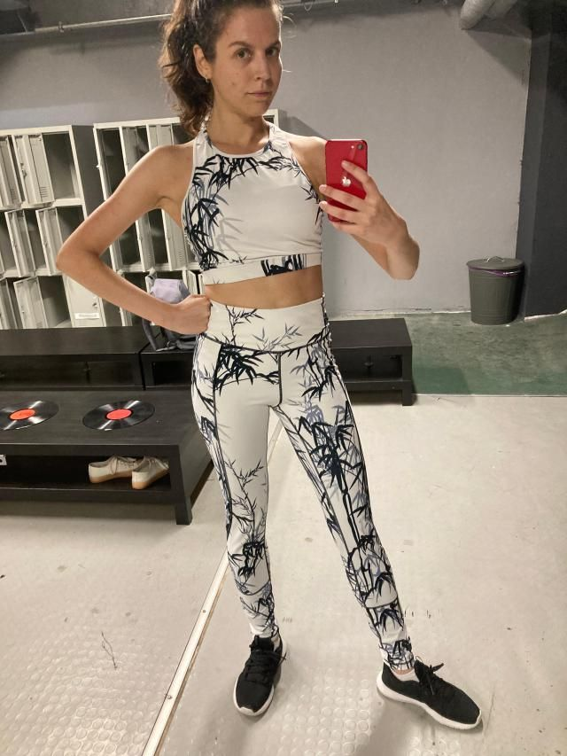 Loving this outfit! Monochromatic print is calming like monk for yoga practice and like wild monkey in the jungle when…