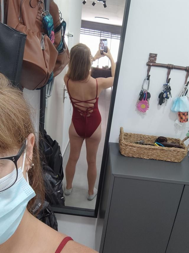 The color on this bathing suit is beautiful. It fits well except that it's a bit higher cut in the front than I like a…