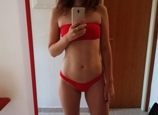 Fits well , True to size , Super cute  Love this bikini. Can't wait to wear!  Definitely recommend