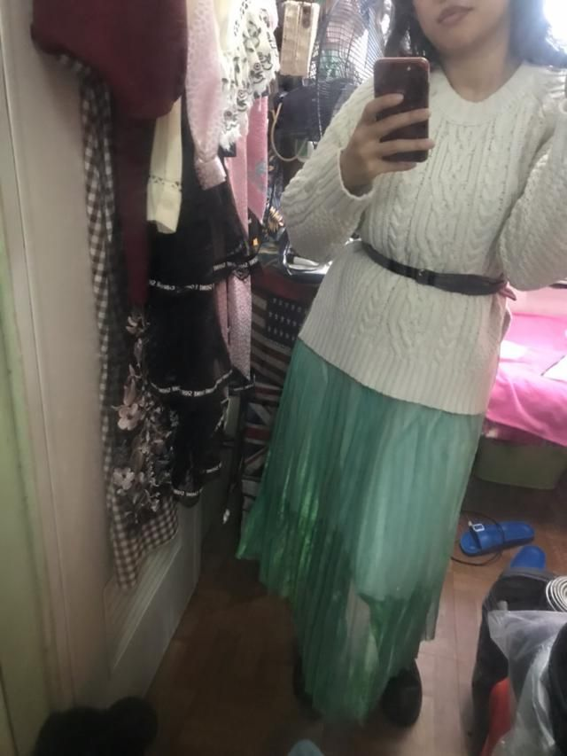 So thick but very cute sweater.  True to size and fits well Comfortable and of fantastic material Looks exaclty like t…