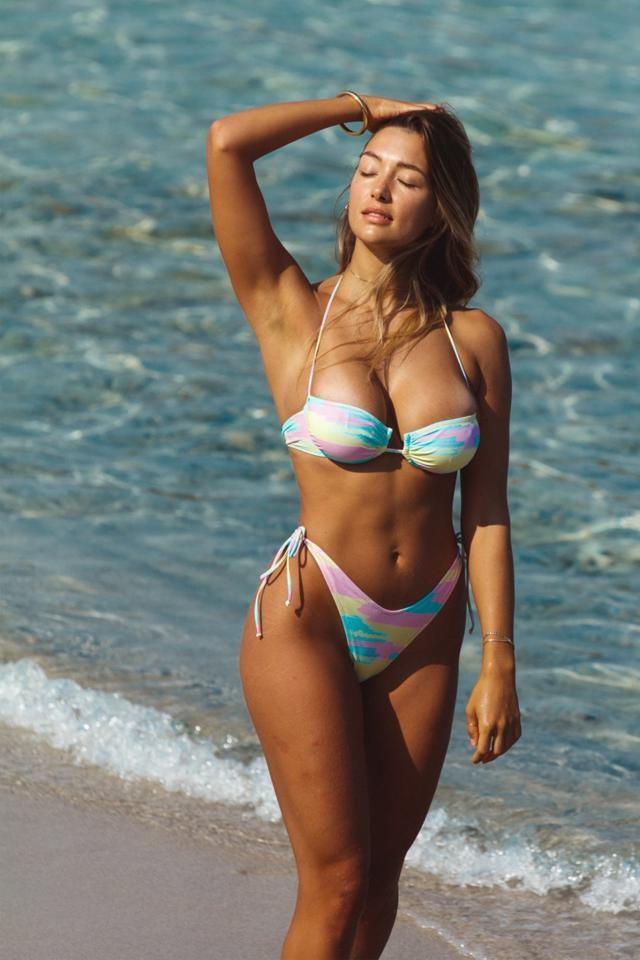 ZAFUL Halter Tie-dye Tanga Scrunch Butt Bikini Swimwear