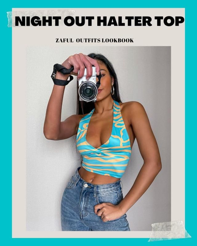 5 Halter Top For Your Night Out! ZAFUL Outfits Lookbook. Check our new Lookbook and comment below with your fav look!…
