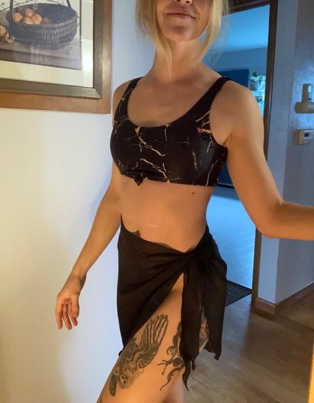 Definitely recommend having a nice little sarong like this to add a bit more coverage. Semi-sheer seems like an approp…