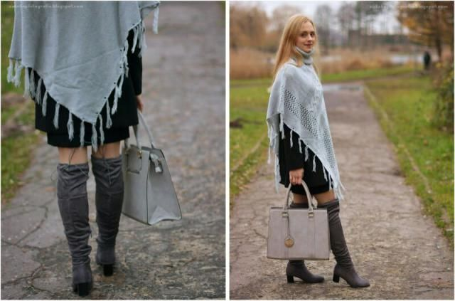 I love wearit elegant clothes! overknee boots and poncho - great items!