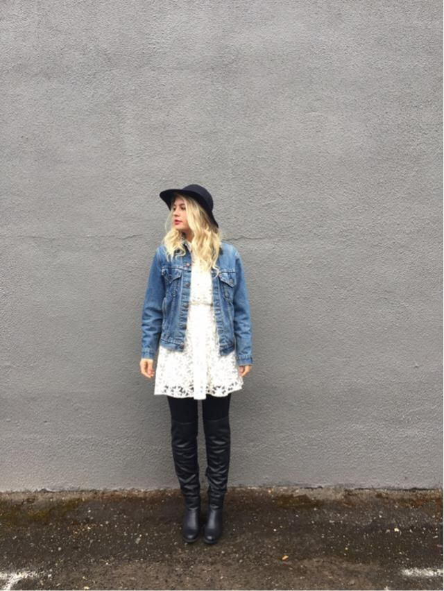 Adding a jean jacket to everything just makes it cool