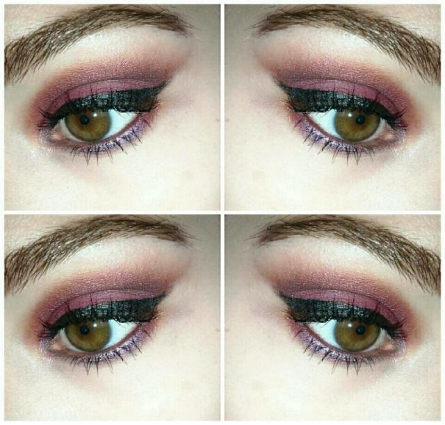 burgandy makeup