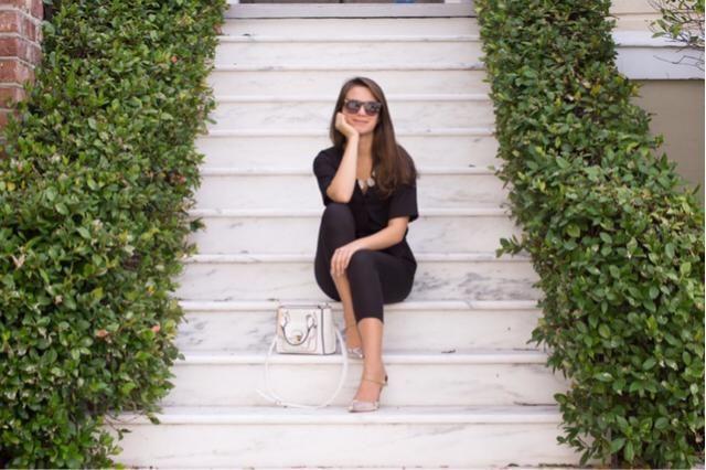 ! Loving this sleek black jumpsuit. Unleash your inner !