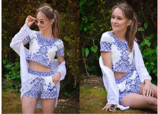 for spring i recommend something floral and two piece outfit, because it wont be too hot and it wont be too late, two…
