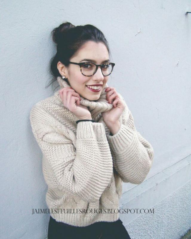 Sassy bun and braided sweater!