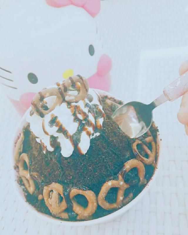 Hello Kitty Chocolate Bingsu