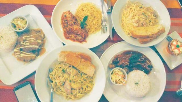 Pasta, Pork belly and Steak ♡