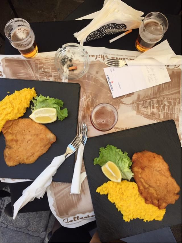 Weekend done right with fried chicken and saffron risotto!