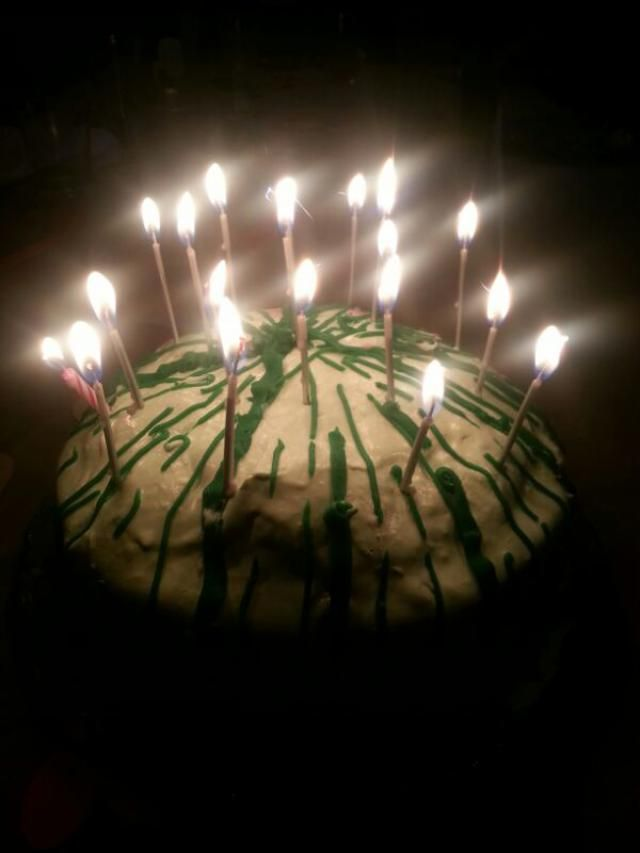 my suprise birthday party! it was sooooo much fun! my cousins made a watermelon cake with chocolate chips as the seeds!…