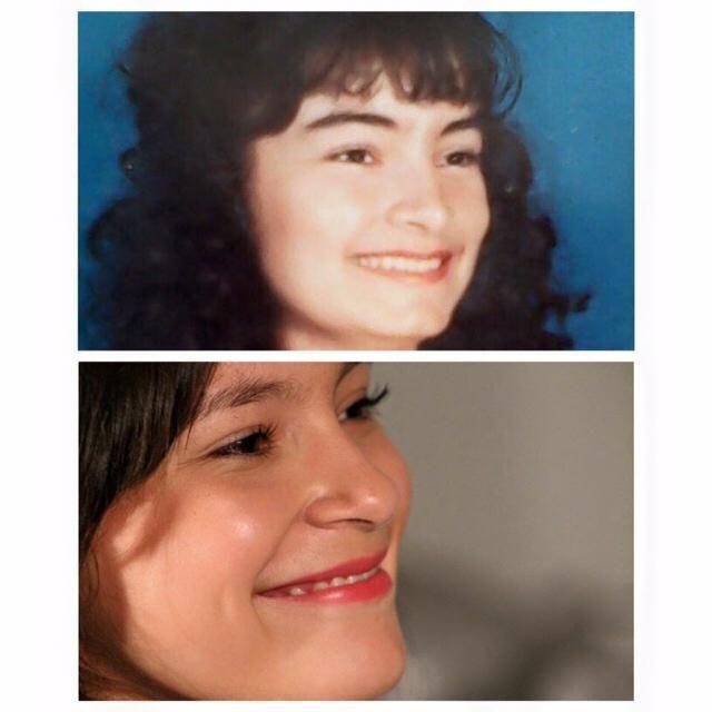 My mom at 15, me at 16!