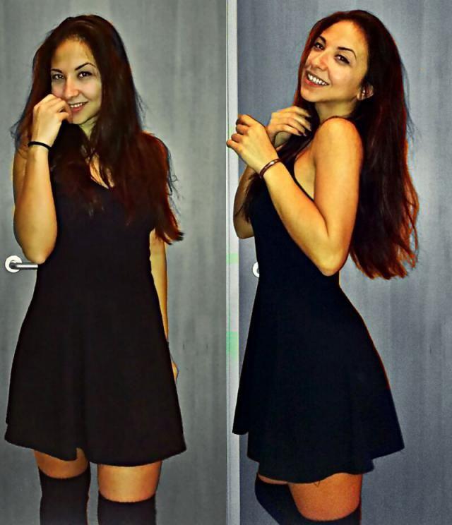 simply me in a little black dress