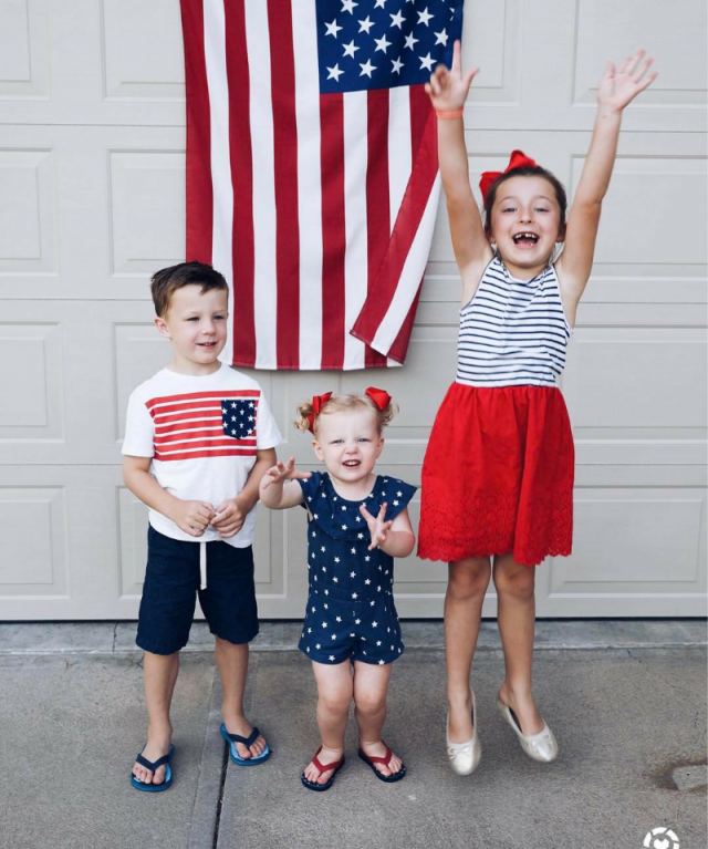 My children celebrating the 4th of July that beautiful