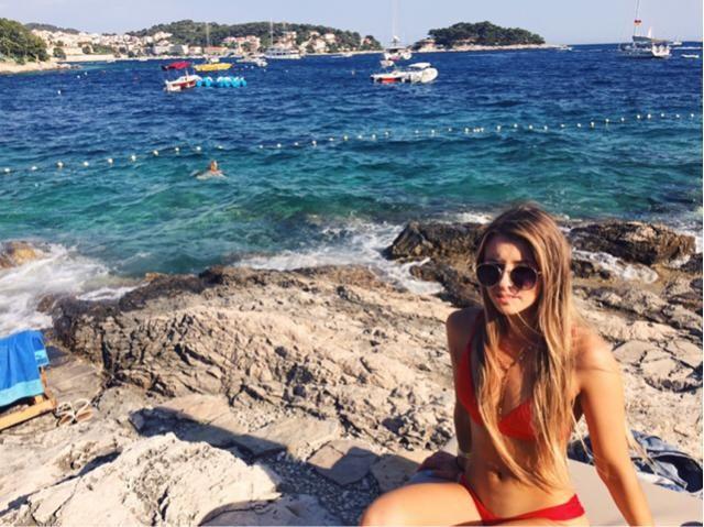 blue ocean in Croatia