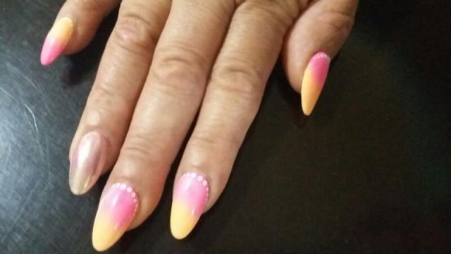 las uñas de mi ma. .. efecto difuminado y espejo
